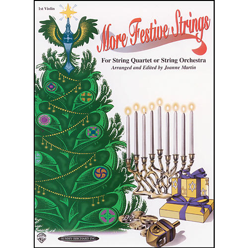 Alfred More Festive Strings 1st Violin (Book)-thumbnail