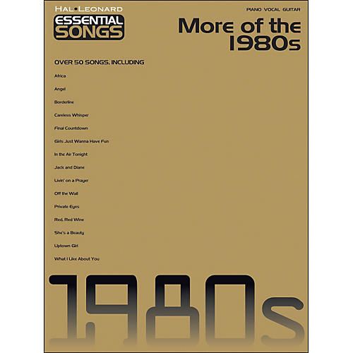 Hal Leonard More Of The 1980s - Essential Songs arranged for piano, vocal, and guitar (P/V/G)-thumbnail