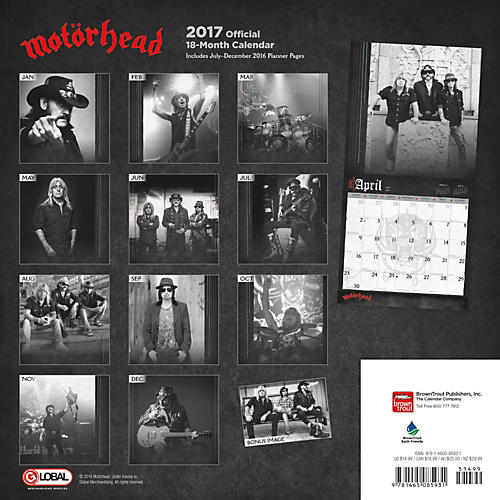Browntrout Publishing Motorhead 17 Global Calendar-thumbnail