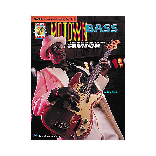 Hal Leonard Motown Bass Signature Licks Book with CD