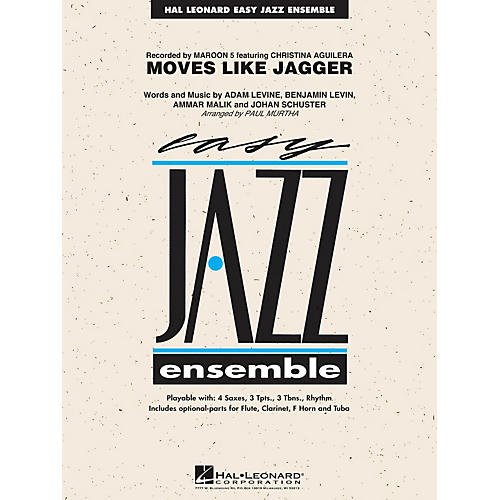 Hal Leonard Moves Like Jagger Jazz Band Level 2 by Maroon 5 Arranged by Paul Murtha