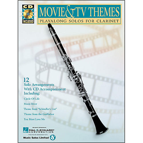 Hal Leonard Movie And TV Themes - Playalong Solos for Clarinet Book/CD