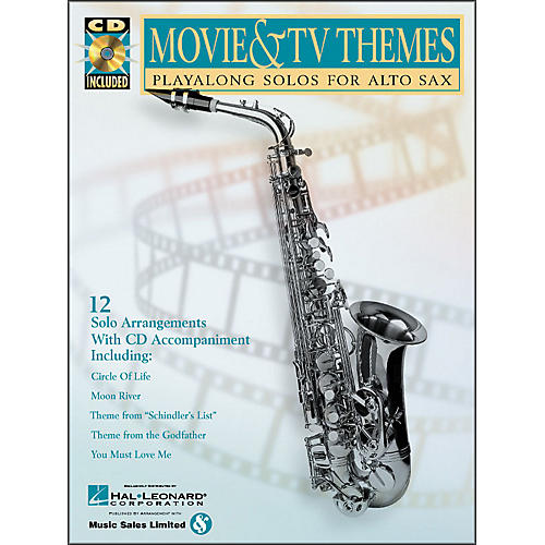 Hal Leonard Movie And TV Themes Playalong Solos for Alto Sax Book/CD