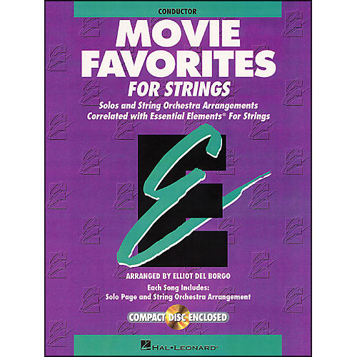 Hal Leonard Movie Favorites Conductor Essential Elements Strings CD/Pkg-thumbnail
