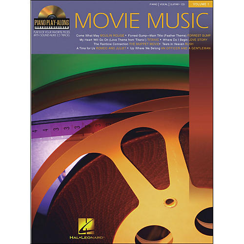 Hal Leonard Movie Music Piano Play-Along Volume 1 Book/CD arranged for piano, vocal, and guitar (P/V/G)-thumbnail