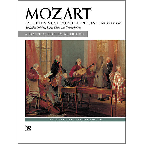 Alfred Mozart 21 of His Most Popular Pieces Intermediate Piano