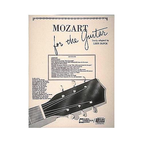 Edward B. Marks Music Company Mozart for Guitar Book-thumbnail