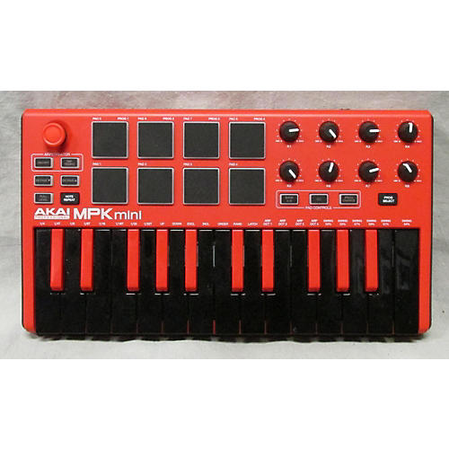 used akai professional mpk mini mkii red midi controller guitar center. Black Bedroom Furniture Sets. Home Design Ideas