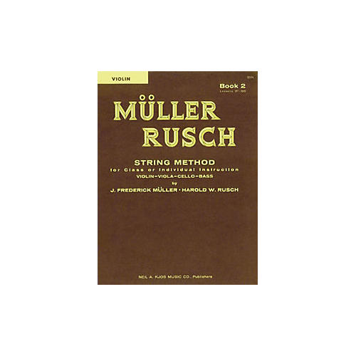 KJOS Muller-Rusch String Method 2 Violin Book