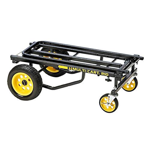Rock N Roller Multi-Cart 8-in-1 Equipment Transporter Cart Black Frame/Yellow Wheels Max