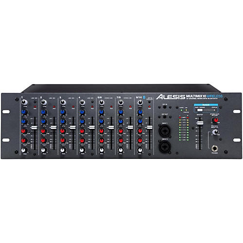 Alesis MultiMix 10 Wireless 10-Channel Rackmount Mixer with Bluetooth Wireless-thumbnail