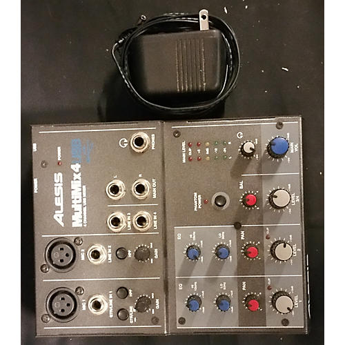 Alesis MultiMix 4 USB Compact Unpowered Mixer-thumbnail