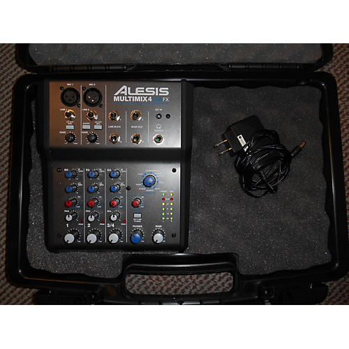 Alesis MultiMix 4 USB FX 4-Channel Black Unpowered Mixer-thumbnail