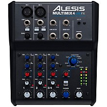 Alesis MultiMix 4 USB FX 4-Channel Mixer with Effects & USB Audio Interface