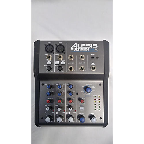 Alesis MultiMix 4 USB FX 4-Channel Unpowered Mixer-thumbnail