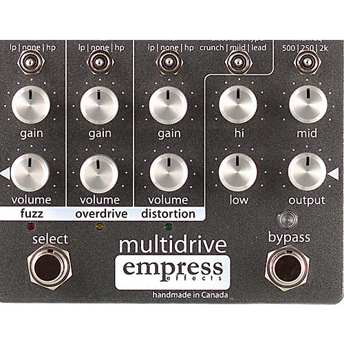 Empress Effects Multidrive Overdrive Guitar Effects Pedal-thumbnail