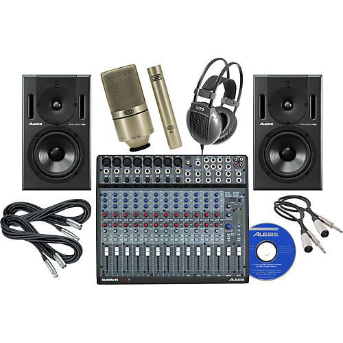 Alesis Multimix 16 Firewire Studio Recording Bundle-thumbnail