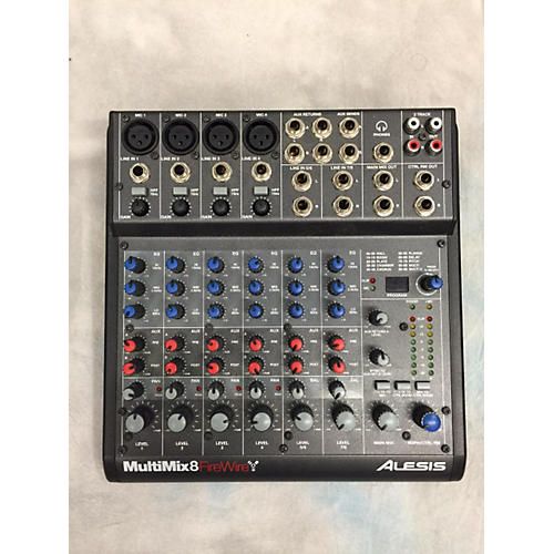 used alesis multimix 8 firewire powered mixer guitar center. Black Bedroom Furniture Sets. Home Design Ideas