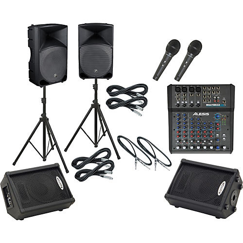 Alesis Multimix 8 USB FX / Thump TH-15A Mains & Monitors Package