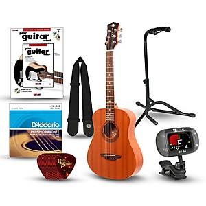 Luna Guitars Muse Safari Series Mahogany 3/4 Dreadnought Travel Acoustic Gu...