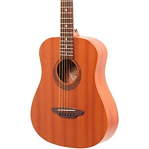 Luna Guitars Muse Safari Series Mahogany 3/4 Dreadnought Travel Acoustic Gu...