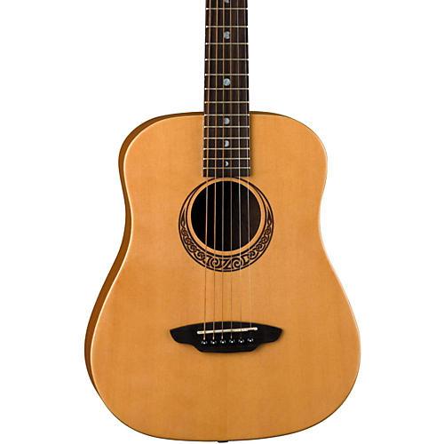 Luna Guitars Muse Safari Series Spruce 3/4 Dreadnought Travel Acoustic Guitar-thumbnail