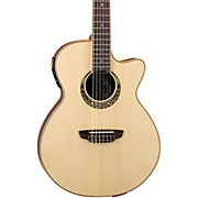 Luna Guitars Muse Series Folk Cutaway Nylon-String Acoustic-Electric Guitar