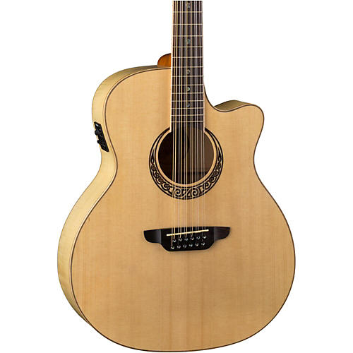 Luna Guitars Muse Spruce Top 12 String Acoustic-Electric Guitar