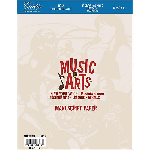 Hal Leonard Music & Arts Carta Manuscript Paper Pad # 2-thumbnail