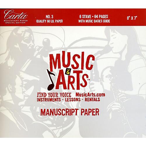 Hal Leonard Music & Arts Carta Manuscript Paper Pad # 3