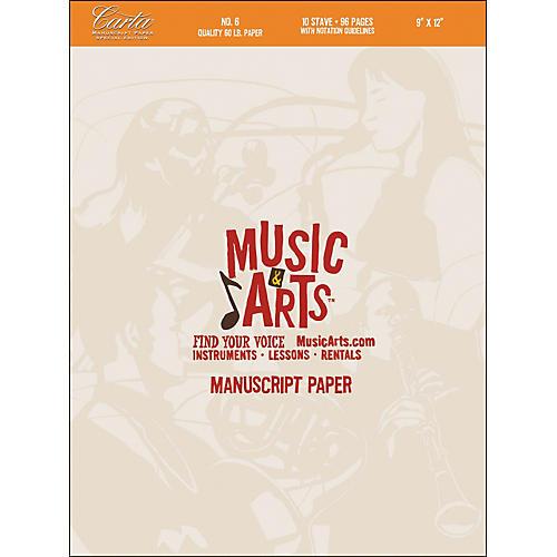 Hal Leonard Music & Arts Carta Manuscript Paper Pad # 6-thumbnail