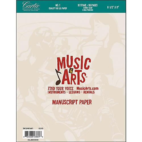 Hal Leonard Music & Arts Carta Manuscript Paper Pad-thumbnail