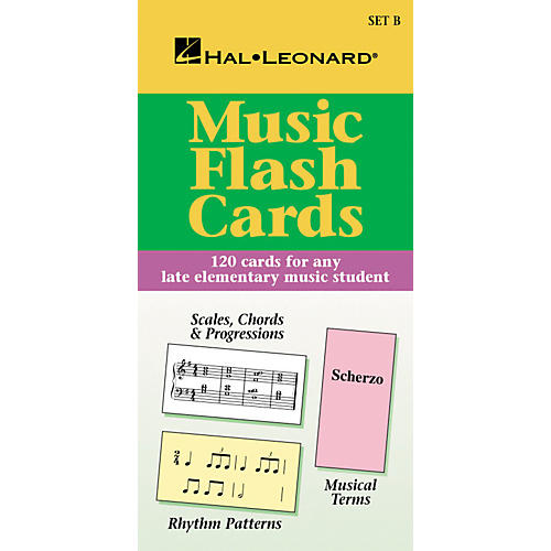 Hal Leonard Music Flash Cards Set B Hal Leonard Student Piano Library-thumbnail