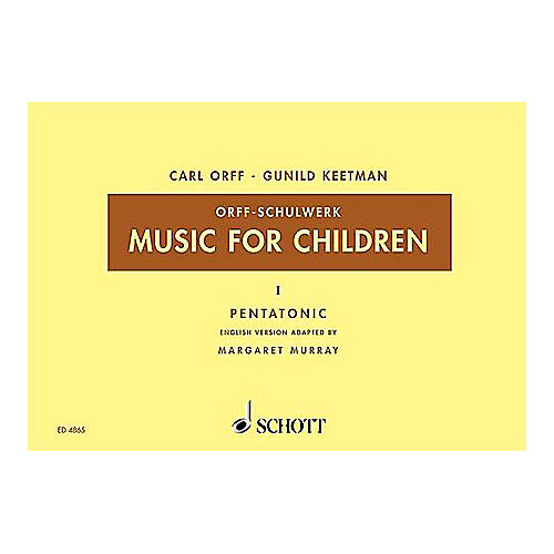 Schott Music For Children Vol. 5 Minor Triads Bordun by Carl Orff arr by Hall/Walter