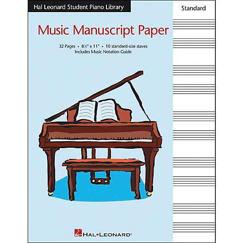 Hal Leonard Music Manuscript Paper Standard Size Staves 8.5 X 11 Hal Leonard Student Piano Library-thumbnail