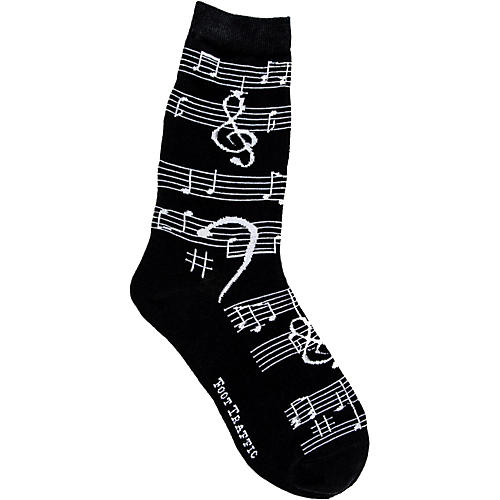 Foot Traffic Music Notes Women's Socks-thumbnail