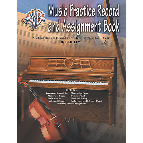 Alfred Music Practice Record and Assignment Book-thumbnail