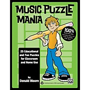 Alfred Music Puzzle Mania Book & CD