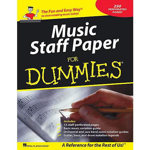 Hal Leonard Music Staff Paper For Dummies