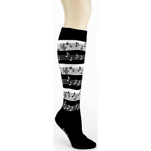 Foot Traffic Music Stripe Knee High Socks