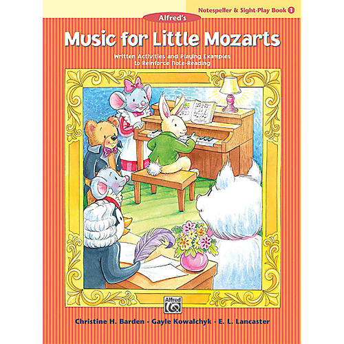 Alfred Music for Little Mozarts: Notespeller & Sight-Play Book 1 Early Elementary-thumbnail