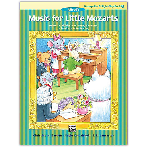 Alfred Music for Little Mozarts: Notespeller & Sight-Play Book 2-thumbnail