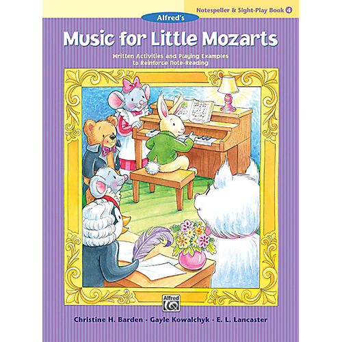 Alfred Music for Little Mozarts: Notespeller & Sight-Play Book 4 Early Elementary-thumbnail