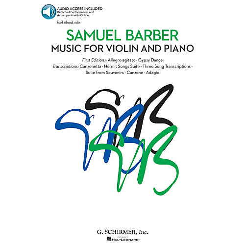 G. Schirmer Music for Violin and Piano String Solo Series Softcover Audio Online Performed by Frank Almond