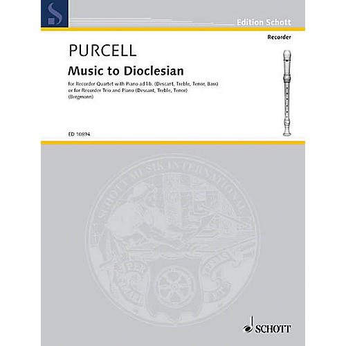 Schott Music to Dioclesian (Score and Parts) Schott Series