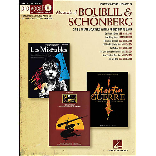 Hal Leonard Musicals Of Boublil & Schonberg - Pro Vocal Series Women's Edition Volume 14 Book/CD