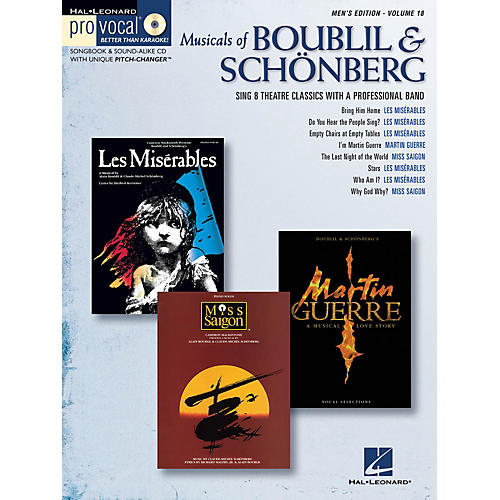 Hal Leonard Musicals of Boublil & Schönberg Pro Vocal Series Softcover with CD Composed by Alain Boublil
