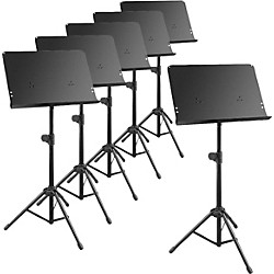 Musician's Gear Deluxe Music Stand 6-Pack (76010 KIT)