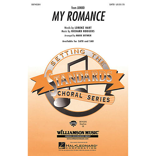 Hal Leonard My Romance SATB arranged by Mark Brymer