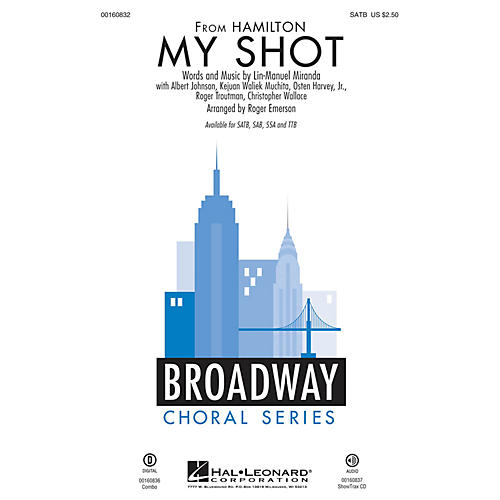 Hal Leonard My Shot (from Hamilton) ShowTrax CD Arranged by Roger Emerson